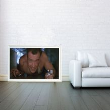 John McClane, Bruce Willis, Die Hard, Decorative Arts, Prints & Posters, Wall Art Print, Poster Any Size - Black and White Poster